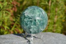 Marble Effect Green Fluorite Crystal Gemstone Sphere - 460g's (Ref:B)