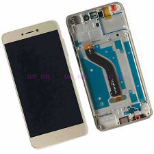 Gold Touch Digitizer LCD Display Assembly+Frame For Huawei P8 Lite 2017 PRA-LX1
