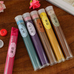 50Sticks Incense Burner Natural Aroma Vanilla Sandalwood Rose Air Freshener