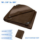 Brown Heavy Duty Multi-purpose Waterproof Poly Tarp Cover Tent Shelter Camping