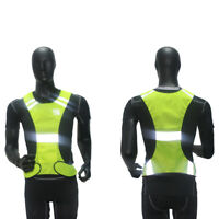 Hi Viz Reflective Safety Vest for Running Jogging Cycling Walking - Yellow