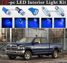 14-pc Blue LED Interior Light Bulb Package Kit Fit 2002-2011 Dodge Ram 1500 3500