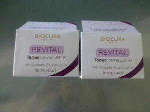 2 x Biocura Beauty  Calcium Revital Tagescreme  mit Avocado-Öl & LSF6, Gesichtsc