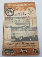 AMC Metropolitan Owner's Handbook Technical Service Manual Vtg Clymer Manual
