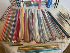 Vintage HUGE lot of Knitting Needles & Crochet Hooks & other tools ..some Bone!
