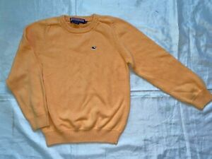 EUC Vineyard Vines Boys M Light Orange Crewneck Pullover Sweater