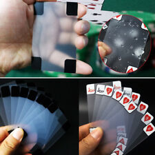 Transparent Poker Playing Cards Size PVC Plastic Waterproof Novelty Clear Deck