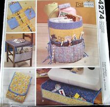 Craft pattern Sewing Room Accessory BUCKET cover chair organizer pincushion