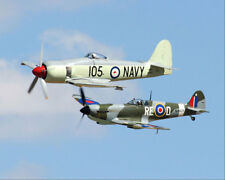 Australische See Fury & Spitfire Replik 11x14 Silber Halogen Fotodruck