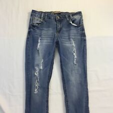 Highway Jeans Juniors Size 7 Skinny Distressed Light Wash