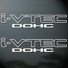 "*11.3/4""X2P HONDA I-VTECH DOHC STICKER DIE CUT DECAL VINYL RACING SPORT MOTOR"