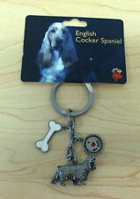 Little Gifts Pet Key Chain with 3 Charms English Cocker Spaniel Dog Nwt New Cn