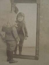 ANTIQUE HIDDEN MOTHER LONG HAIRED BOY ANGEL VICTORIAN MIRROR MARENGO IA PHOTO