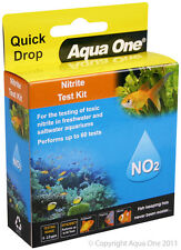 Aqua One A1-92054 Quick Drop Nitrite NO2 Test Kit Range 0 to 2.0ppm for Aquarium