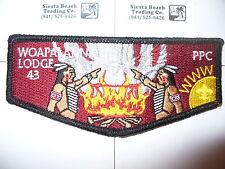 OA Woapalanne Lodge 43 S-22?, 2012 NOAC Smoke Flap, BLK Bdr,Patriot's Path Cl,NJ