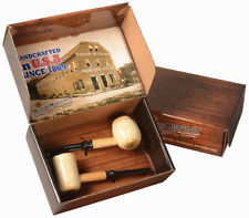 2 Tobacco Smoking Pipe Diplomat Missouri Meerschaum Corn Cob Gift Set - 5601