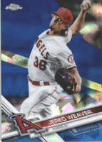 JERED WEAVER 2017 TOPPS CHROME SAPPHIRE EDITION #135 ONLY 250 MADE