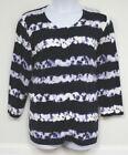 Kate Hill Cardigan Sweater Blue White Tie Dye Plus 3X Button Down Cotton NEW