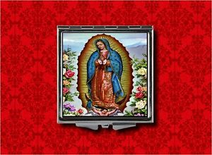 OUR LADY OF GUADALUPE VIRGIN MARY SAINT MEDAL RELIGIOUS POCKET COMPACT MIRROR