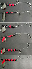 Lake Erie Walleye Candy Crawler Harnesses (1) set (6) different harnesses BLKNKL