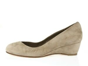 Womens DELMAN 206698 taupe suede wedge shoes sz. 6