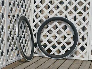 Toray Carbon UD Matt Road Bike Clincher Wheel Rim Alloy Brake 60mm Width 23mm