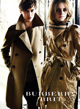 Emma Watson 1-page clipping 2009 ad for Burberry Brit