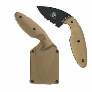 KA-BAR TDI Law Enforcement, Coyote Brown Hard Sheath, TDI Clip #1477CB