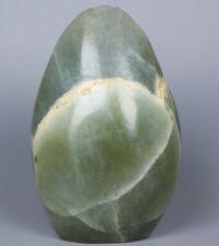 108g Beautiful ! ! Natural Green Moonstones Quartz Crystal Freeform Reiki Statue