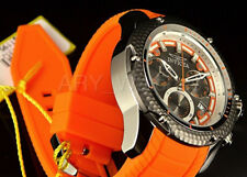 Invicta 52mm Venom Swiss Python Edition Gray Dial Chrono Orange Poly strap Watch