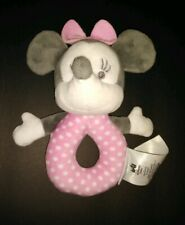 Disney Baby by Disney Store Plush Ring Rattle Minnie Mouse 0+ Months Pink Bow