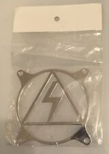 Metal PC Computer Fan Grill / Cover - New In Packing -Silver Lightning Bolt -