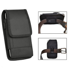 Rugged Black Nylon Pouch Case Clip Holster For Motorola Moto z3 Play / Moto z3