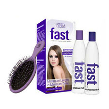Nisim FAST Grow Long Hair Growth Shampoo Conditioner + Wet Dry Detangling Brush