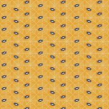 By 1/2 Yard ~ GLOW-in-the-DARK Riley Blake Fabric Ghouls & Goodies Spider Orange