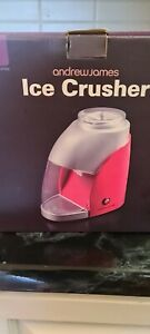 Andrew James Electric Ice Crusher  Slushie Maker in Red 25w 1 Litre Capacity