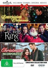 3 Hallmark Christmas Movies DVD Entertaining Incorporated Sleigh Watched 1x