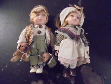 2 Poupées Enfants Céramique