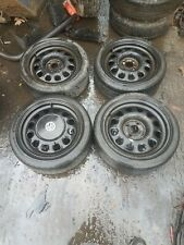 VW Volkswagen 16 Inch Golf Polo Mk1 Mk2 Mk3 Steel Wheels Steelies Centre Caps