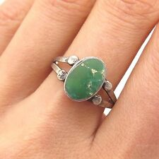 Southwestern Old Pawn 925 Sterling Silver Royston Turquoise Handmade Tribal Ring