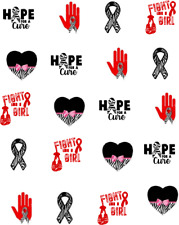 Rare Disease Awareness Ribbon Waterslide Nail Decals/Nail Art