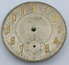 Vintage Swiss Marlboro Pocket Watch Movement & Dial 16 Jewels 2 Adj Parts/Repair