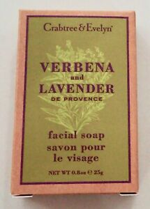 14 x CRABTREE & EVELYN Verbena and Lavender FACIAL Soap Bar 25g (Total 350g)