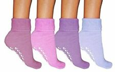 12 Pair Women SLIPPER Gripper Warm Non-skid Fluffy Bed Socks Thermal Size 4-7 3 Pairs