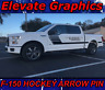 Fits Ford F150 Side Hockey Arrow W/Pin Stripe Vinyl Decal Graphics Stripes 09-20