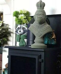 Flocked Majestic Gorilla/monkey Ornament abigail Ahern style