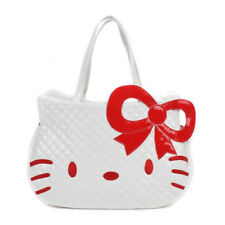 HelloKitty Zipper  Handbag Tote Shoulder Bag 2017  New  Pu Bow  White Big Size