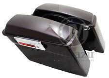 Black Cherry Complete Hard Touring Saddlebags for Harley Touring Models FLH FLT