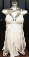 IN BLOOM by JONQUIL CASABLANCA LACE & SATIN CHEMISE XS, MD & LG - BRIDAL BEAUTY!