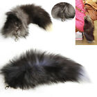 Hot Fox Fur Tail Tassel Bag Tag Charm Handbag Pendant Accessory Large Keychain